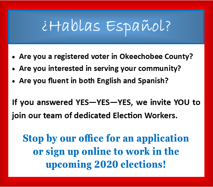 Invitation for bilingual election workers-Invitación para trabajadores electorales bilingües